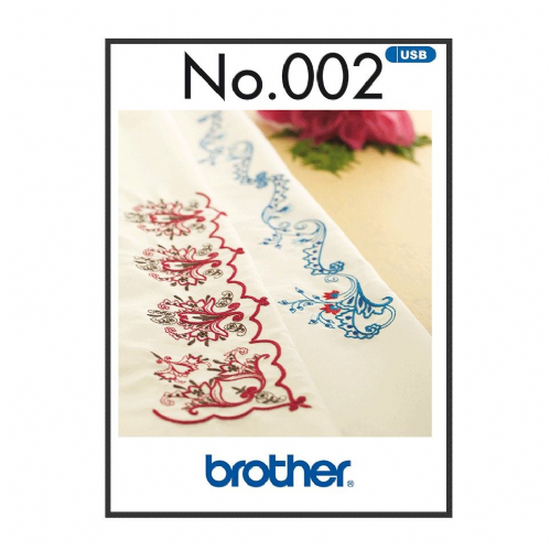 Brother Embroidery Sewing Machine Memory USB Stick 2 Oriental Border Patterns A090.USB2